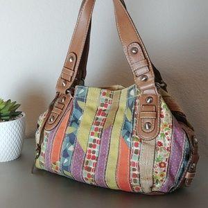 Fossil Colorful Striped Shoulder Bag